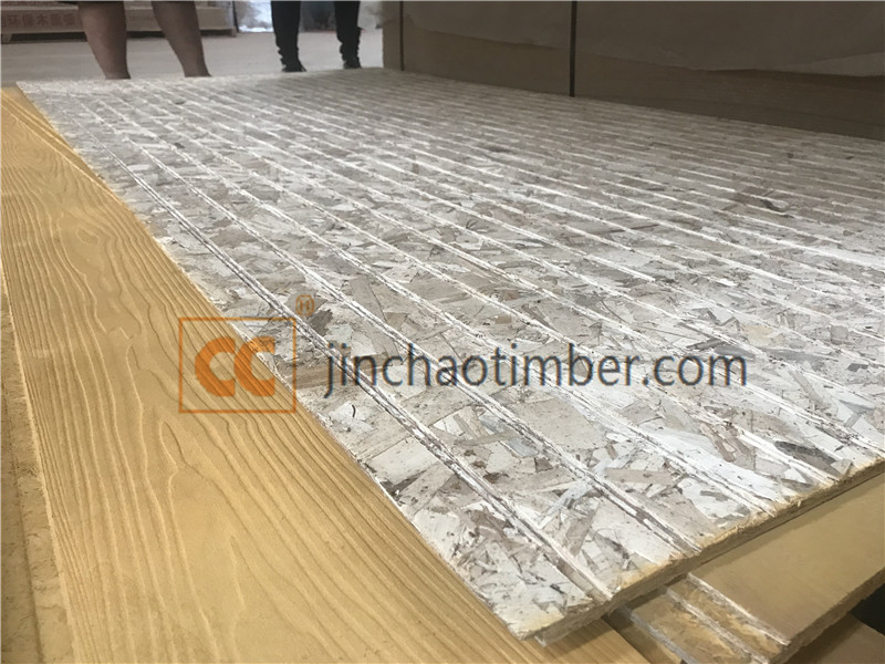 Surface slotted OSB , OSB grooved wall panels